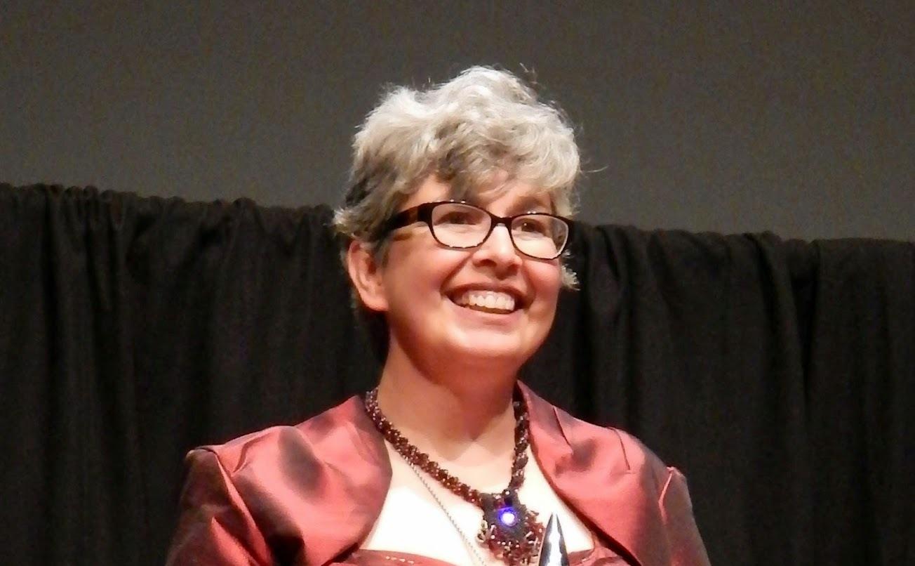 Ann Leckie a Hugo-díj átadóján