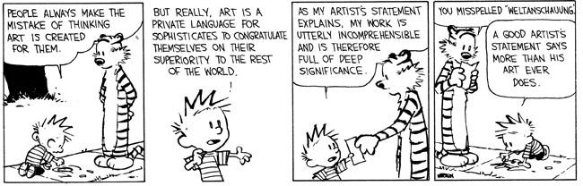 Calvin about art
