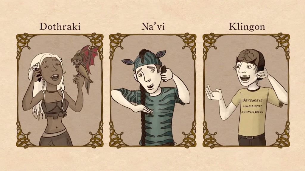 Dothraki, na'vi, klingon