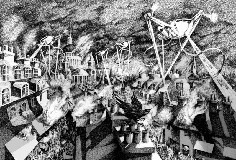 Illusztráció a Világok harca című regényhez