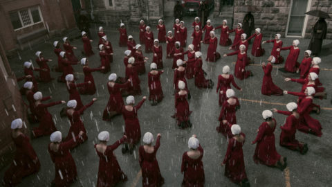"""THE HANDMAID'S TALE -- """"June"""" - Episode 201 -- Offred reckons with the consequences of a dangerous decision while haunted by memories from her past and the violent beginnings of Gilead. (Photo by:George Kraychyk/Hulu)"""