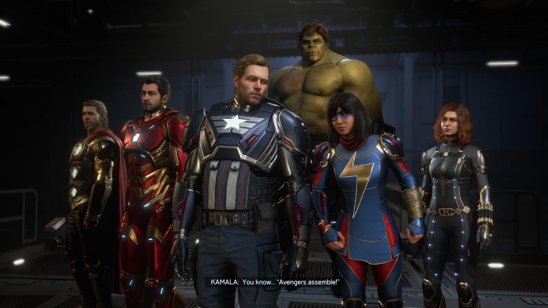 Avengers képernyőmentés, amin a Bosszúállók gyülekeznek