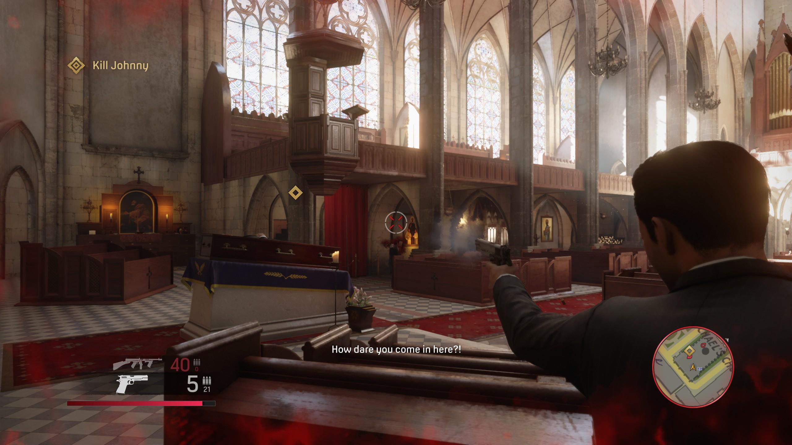 Jelenet a templomi lövöldözés