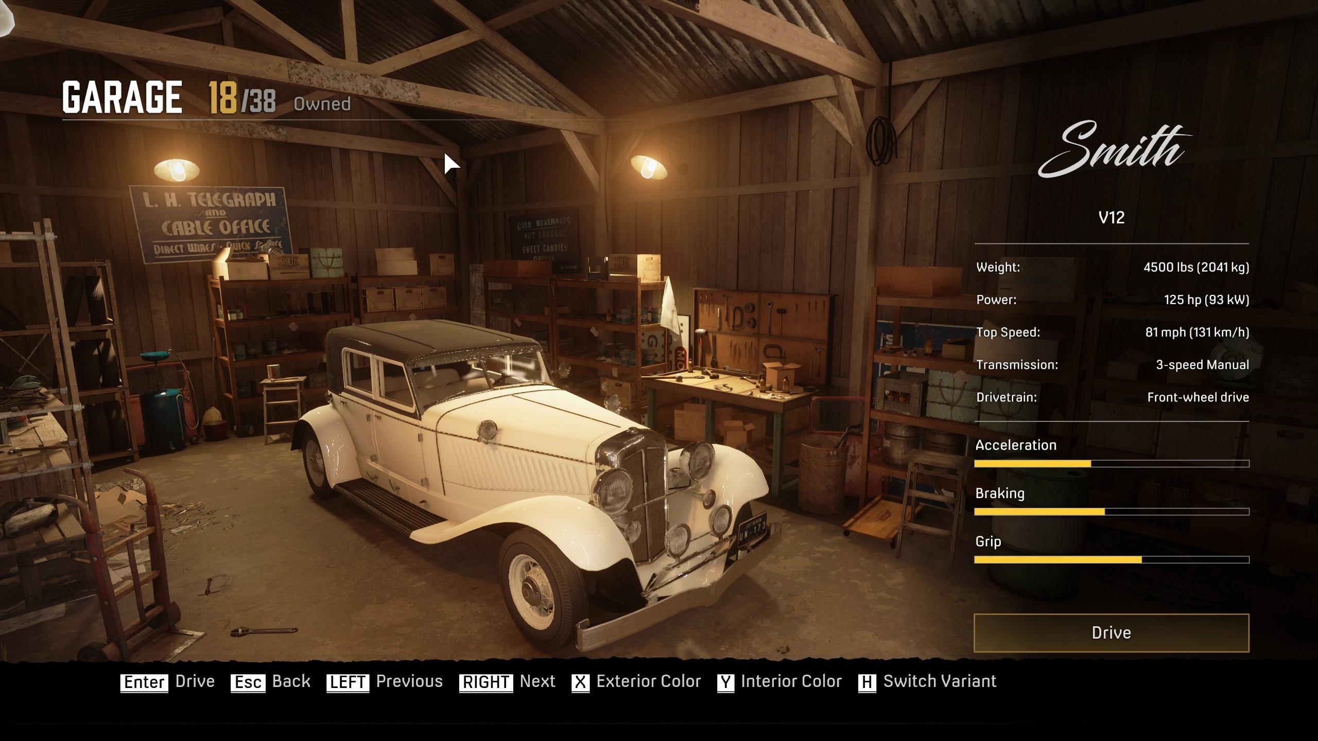kép a garázsról a Mafia Definitive Editionben