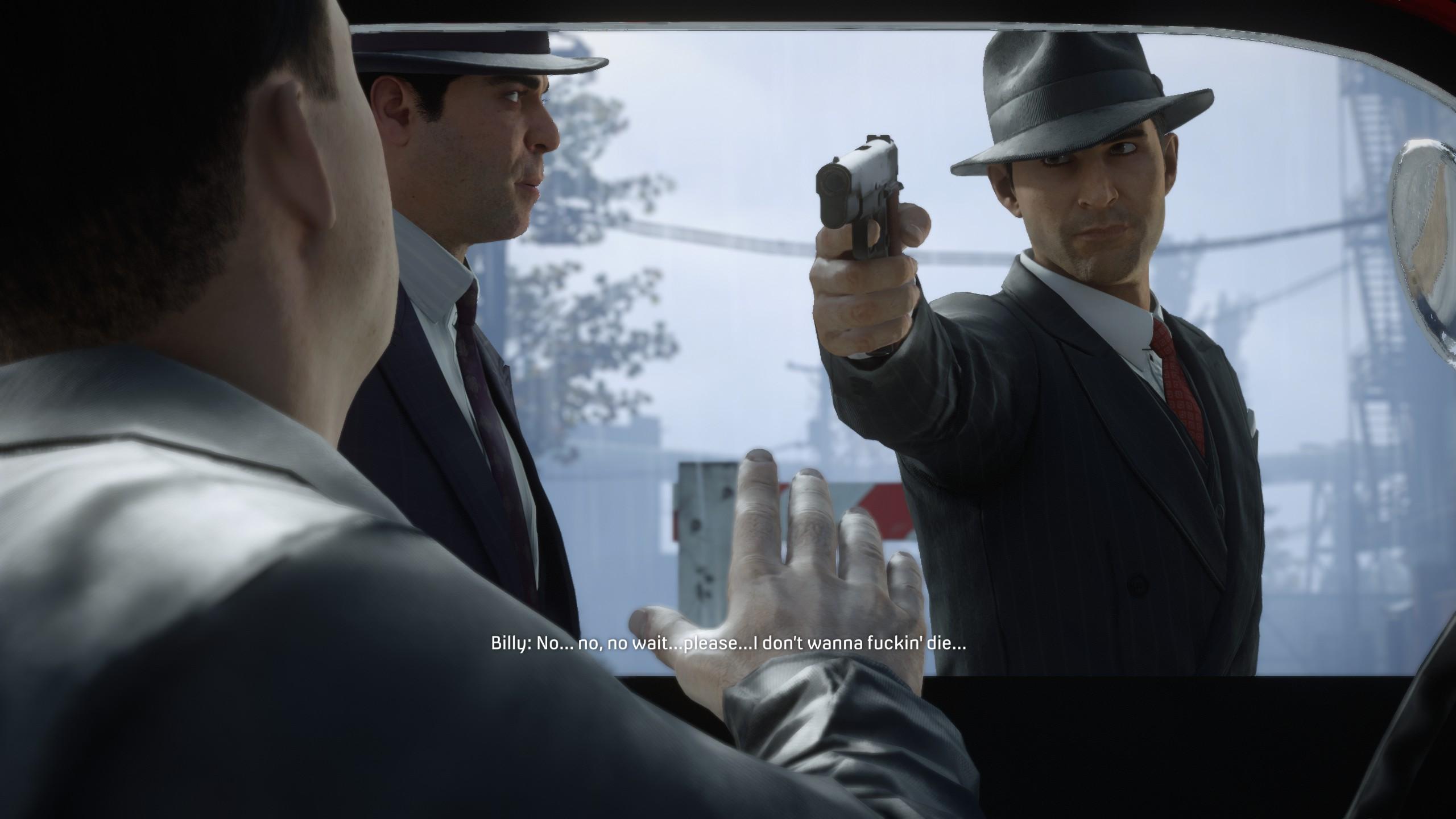 Tommy fegyvert tart egy kölyökre