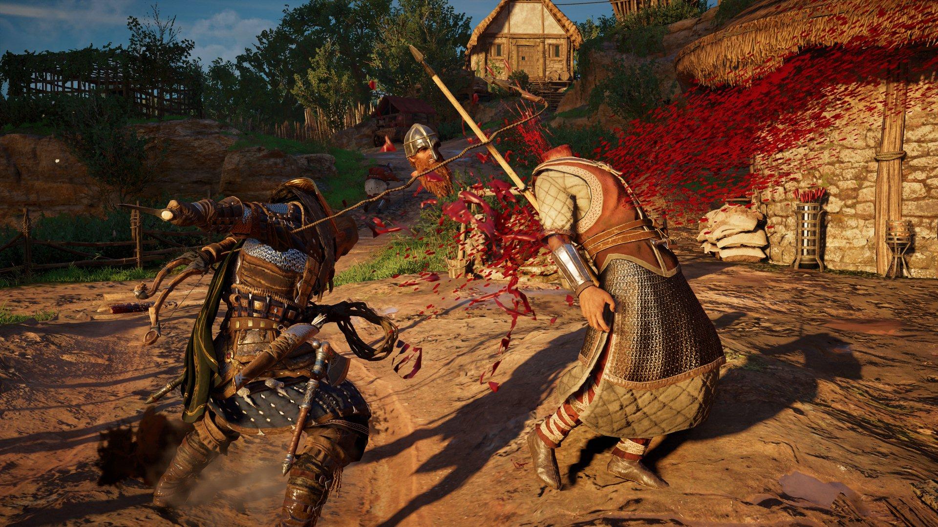 Ac Valhalla Eivor halálos csapást mér az ellenségre