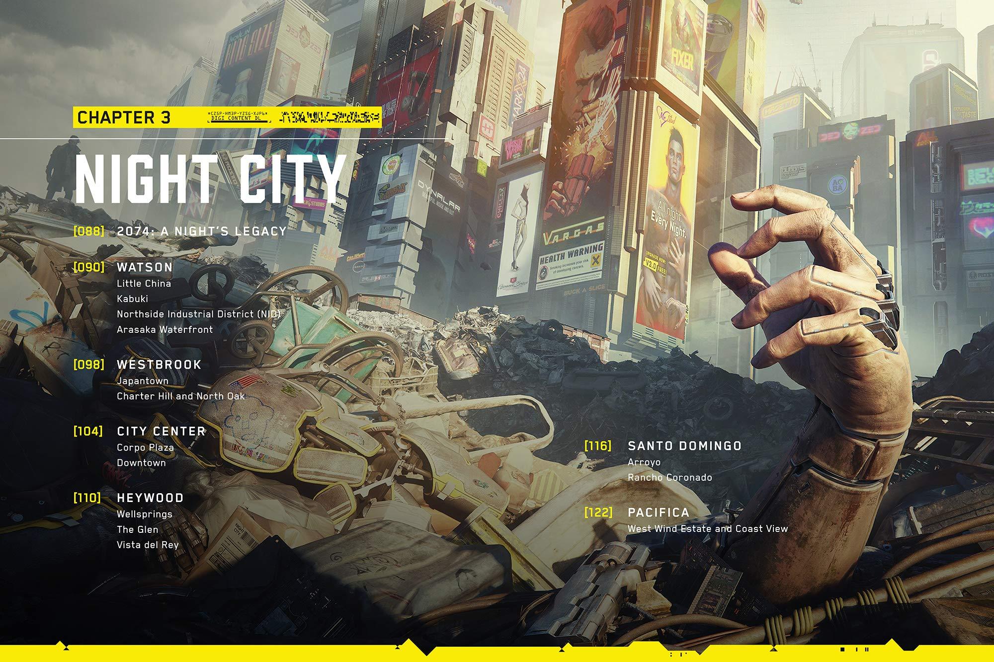 A Cyberpunk 2077 világa, Night city fejezet oldal