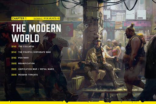 A Cyberpunk 2077 világa történelmi fejezet borítója