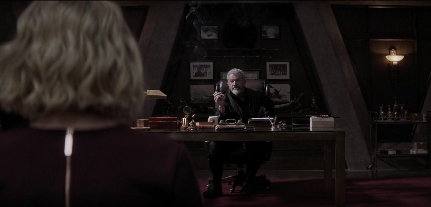 Boss level játszd újra jelenet, Mel Gibson, mint Ventor