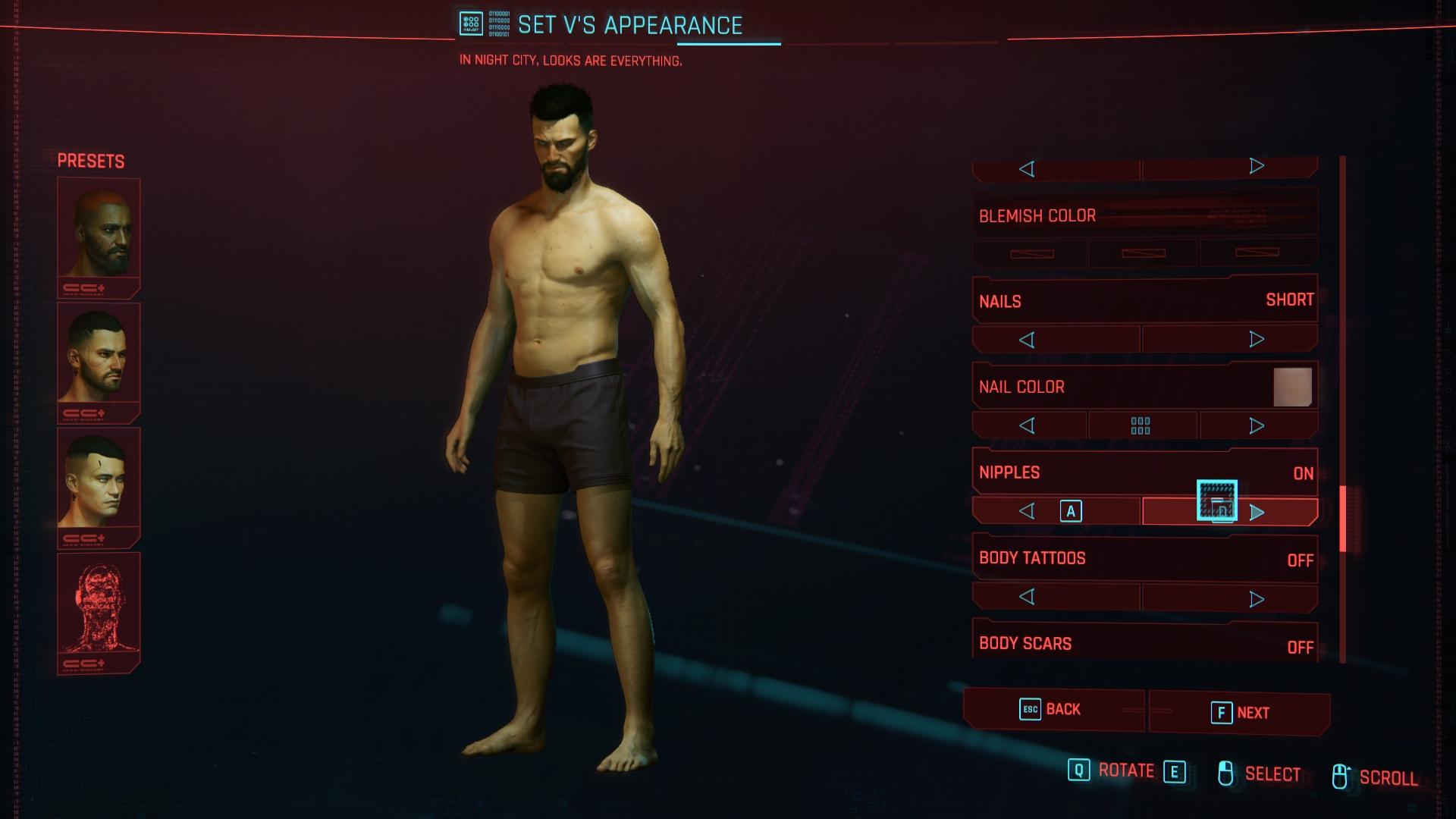 Cyberpunk 2077 karakterkészítő