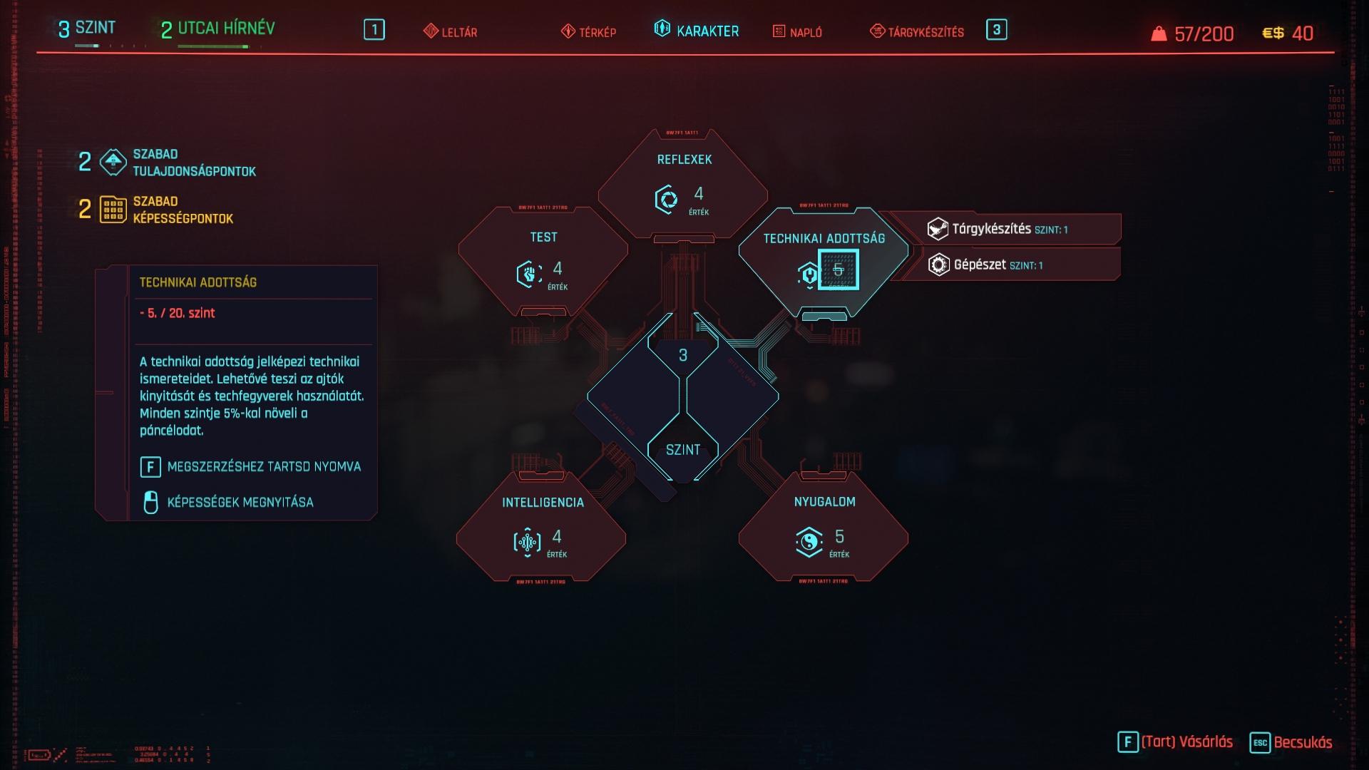 Cyberpunk 2077 képességfa