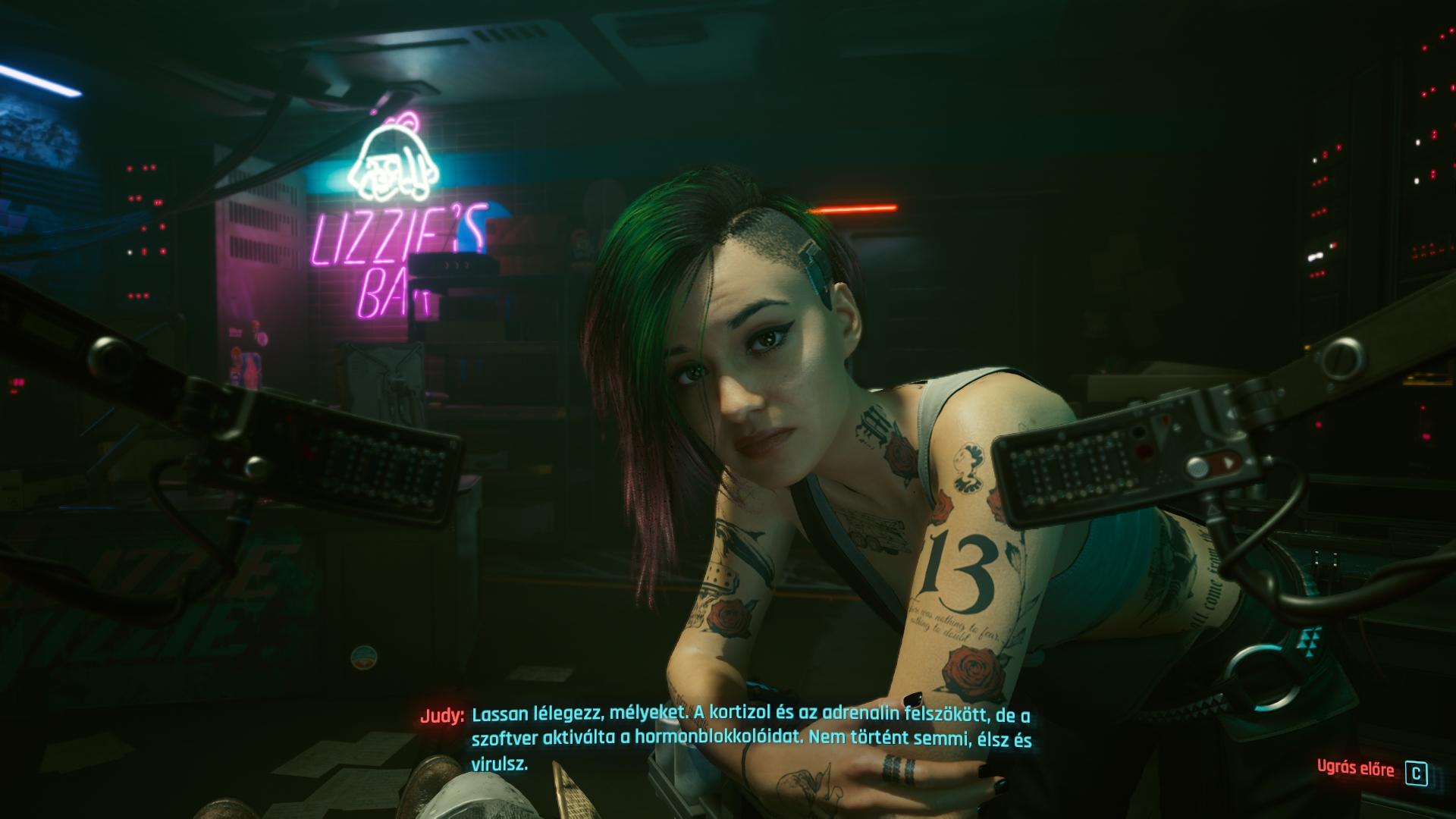 Judy a Cyberpunk 2077-ben