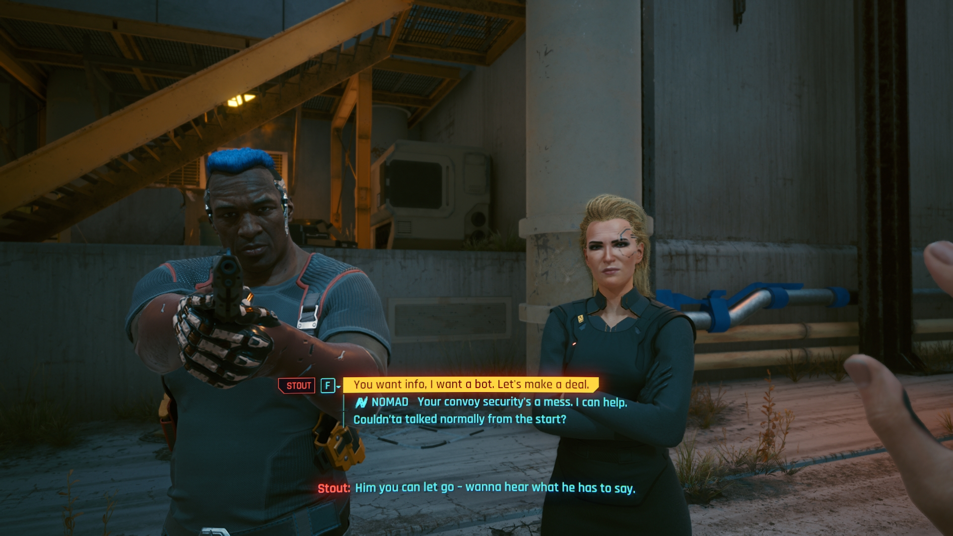 Cyberpunk 2077 tárgyalás