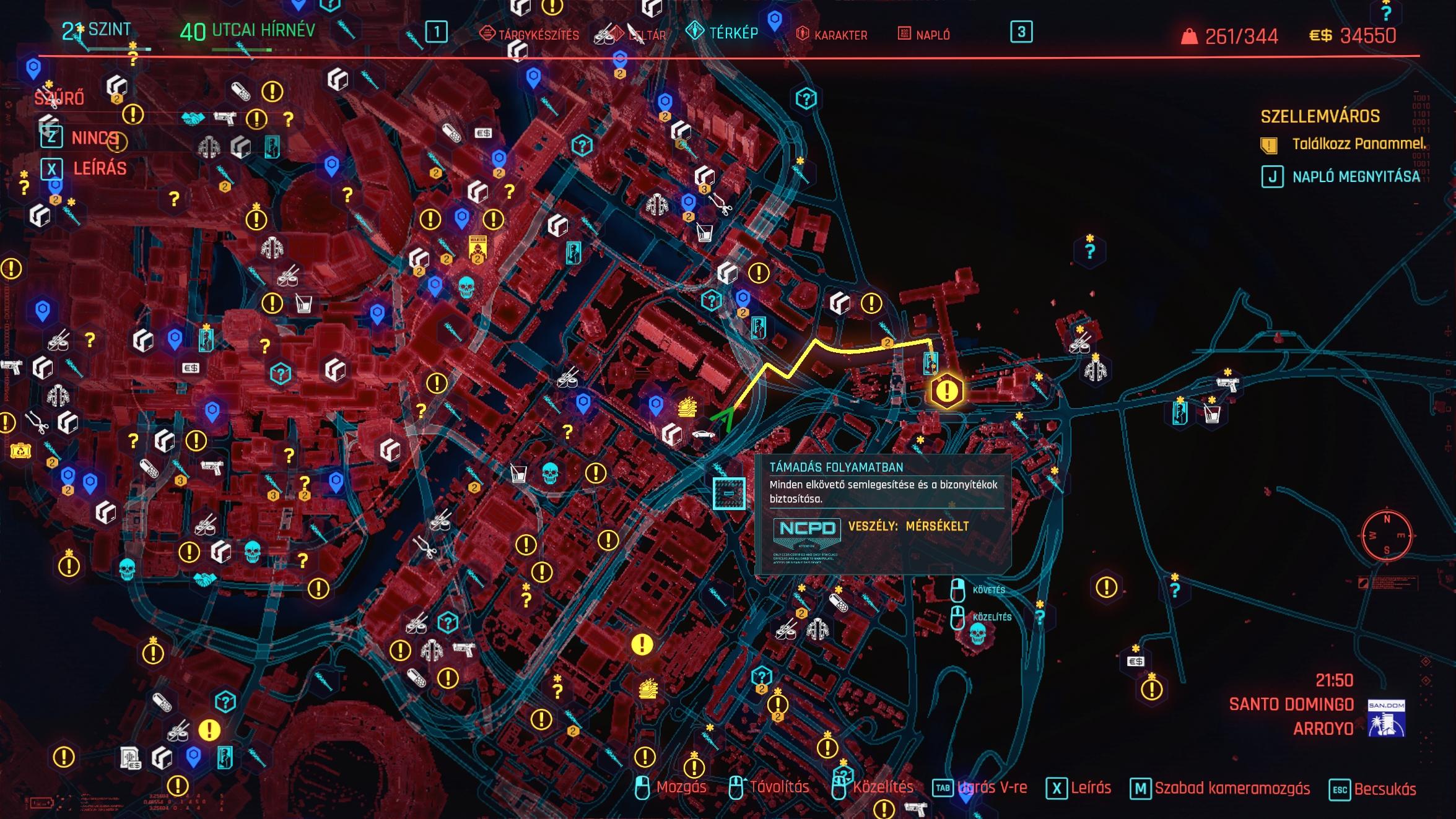 Cyberpunk 2077 térkép