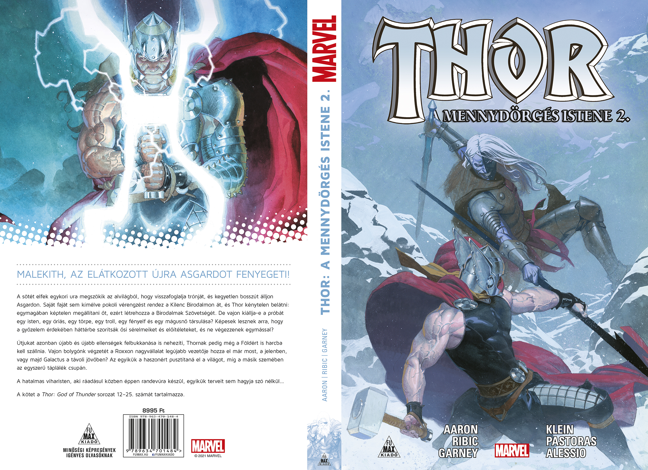 Thor a mennydörgés istene második kötete Fumax borító