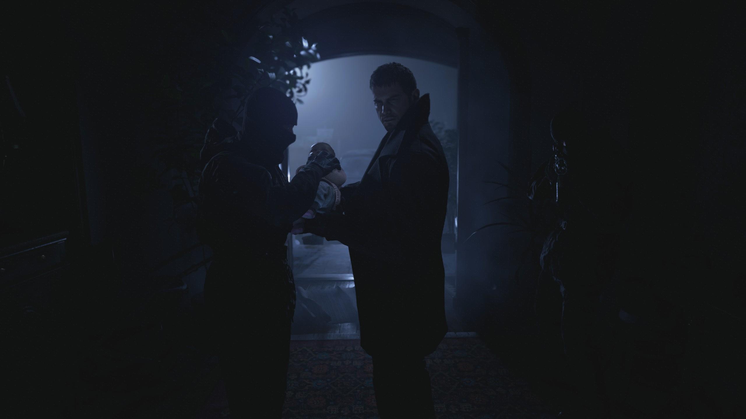 Chris Redfield elviszi Rose-t a resident evil village-ben