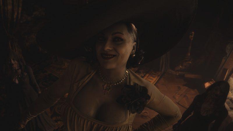 Lady Dimitrescu a Resident Evil villageben