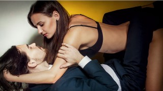 businessman with young girl
