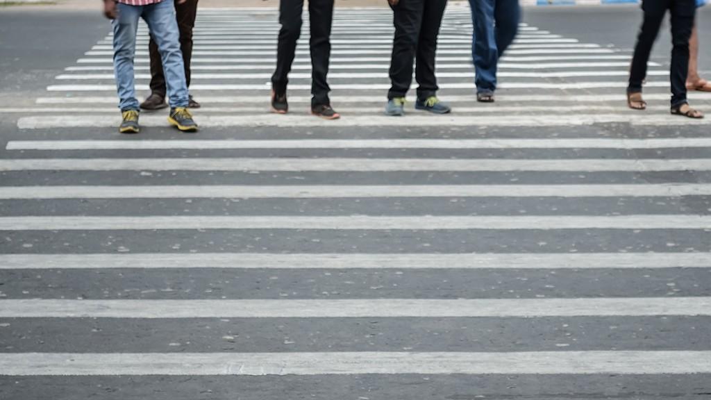 Men crossing street